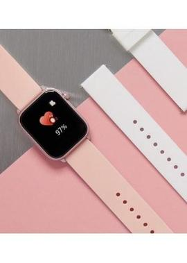 Smart watch MAREA caja cuadrada rosa 2 correas