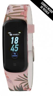 Smart watch MAREA ovalado 2 correas flores tropical/negro