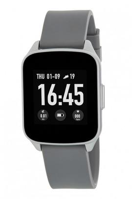 Smart watch MAREA cuadrado plata silicona gris