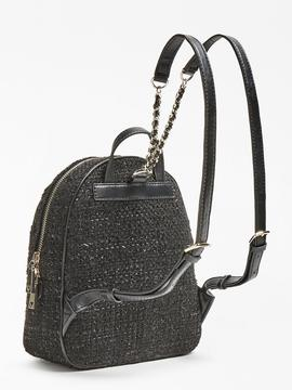 Mochila GUESS Cessily Tweed negra
